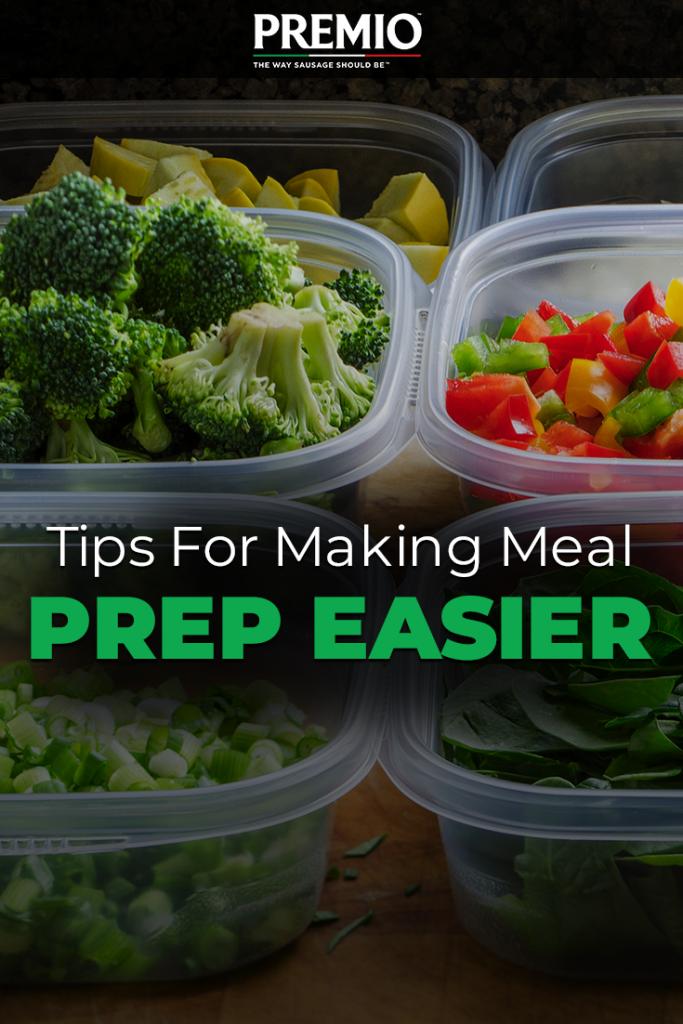 Tips for Making Meal Prep Easier