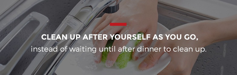 clean up as you cook