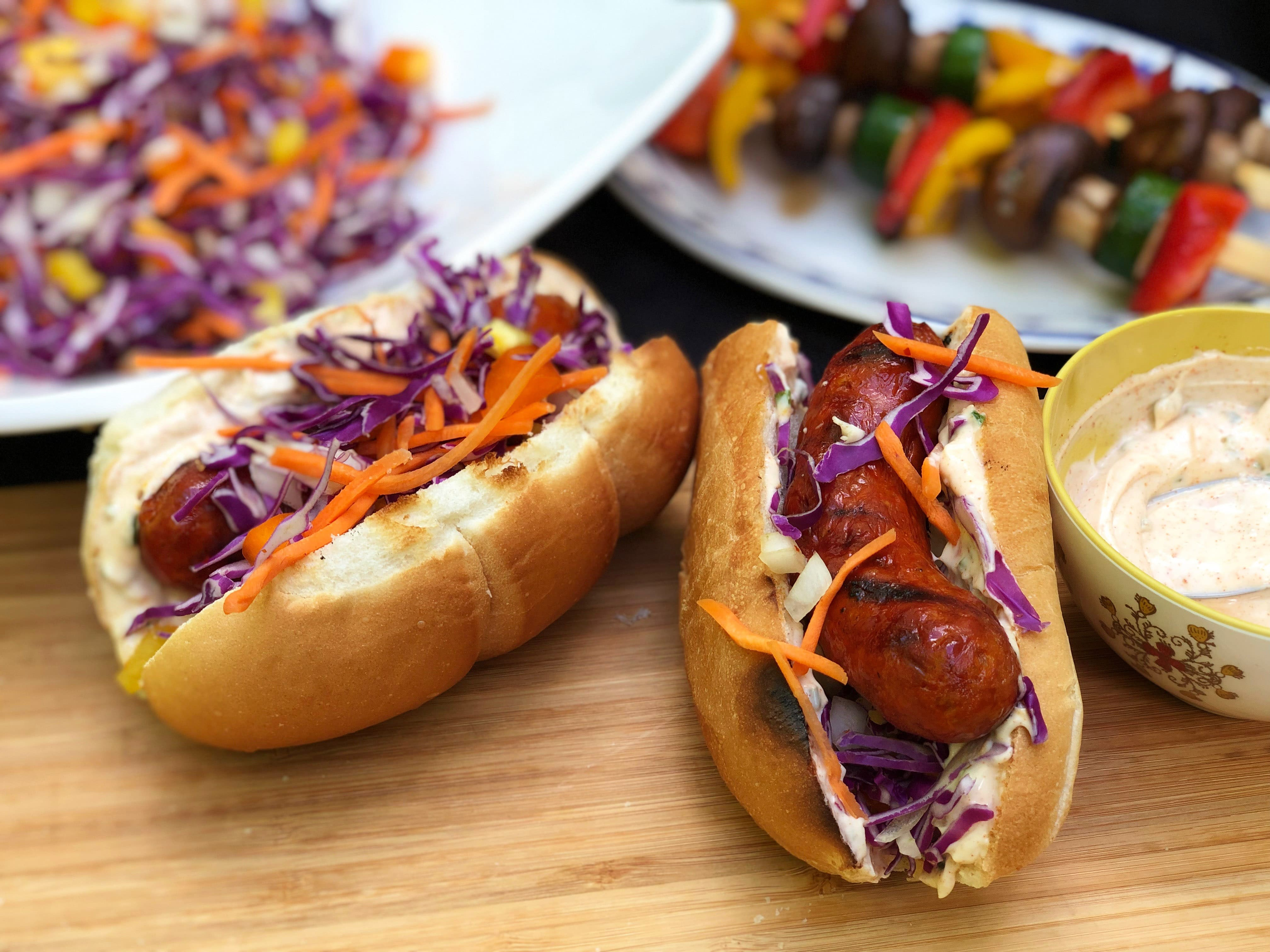 Chorizo Hoagies With Tangy Cabbage-Pepper Relish