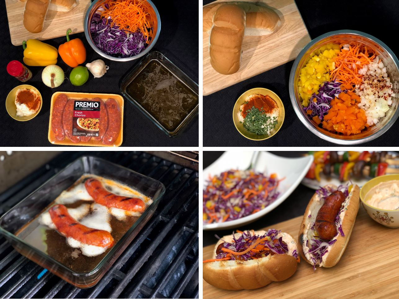 Preparing Chorizo Hoagies With Tangy Cabbage-Pepper Relish