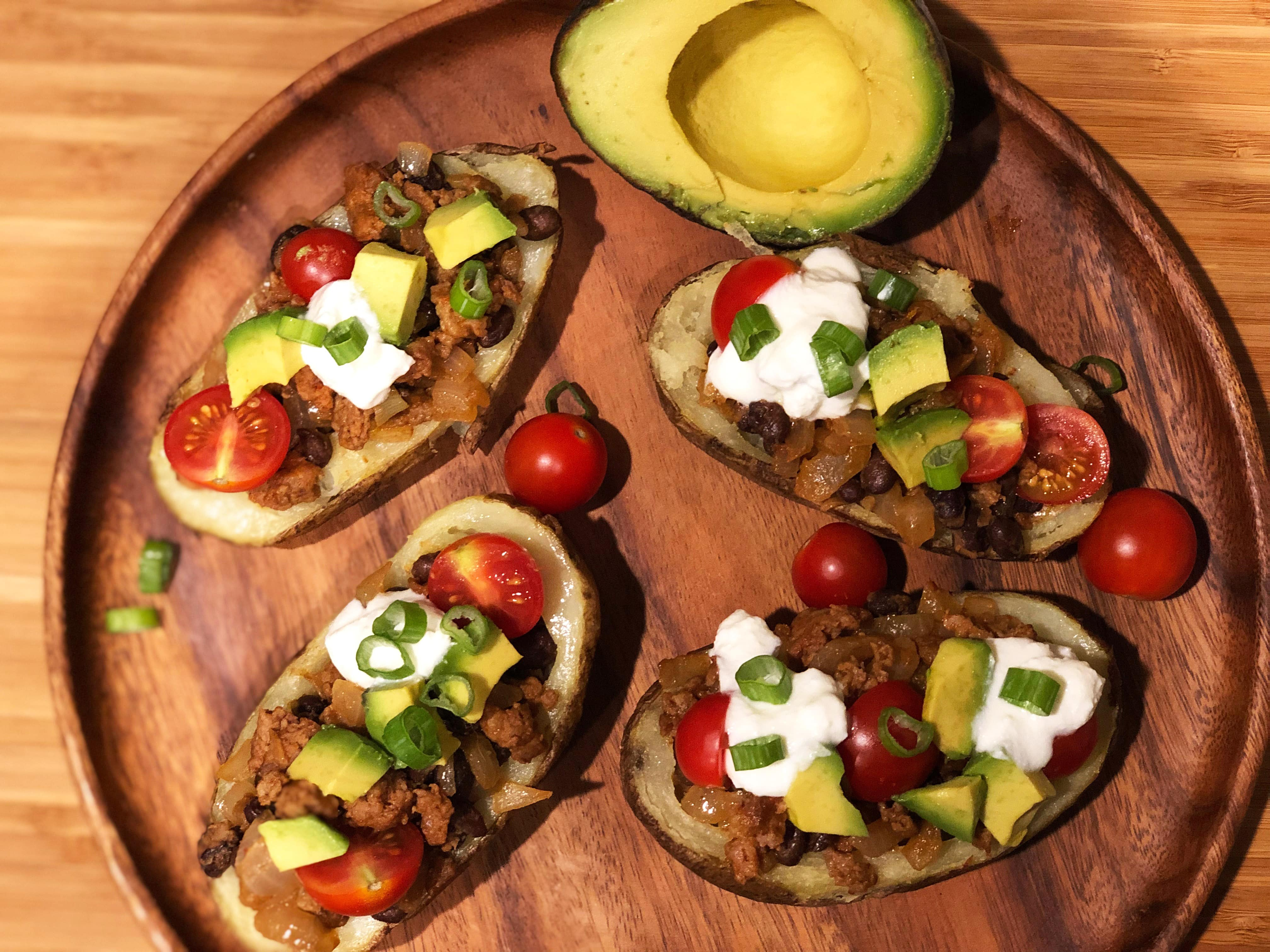 Mexican Loaded Potato Skins