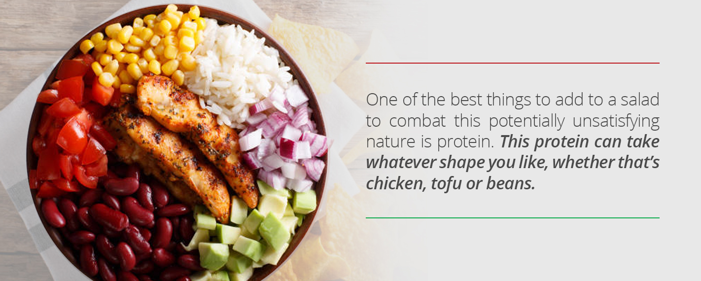 Add protein to your salad