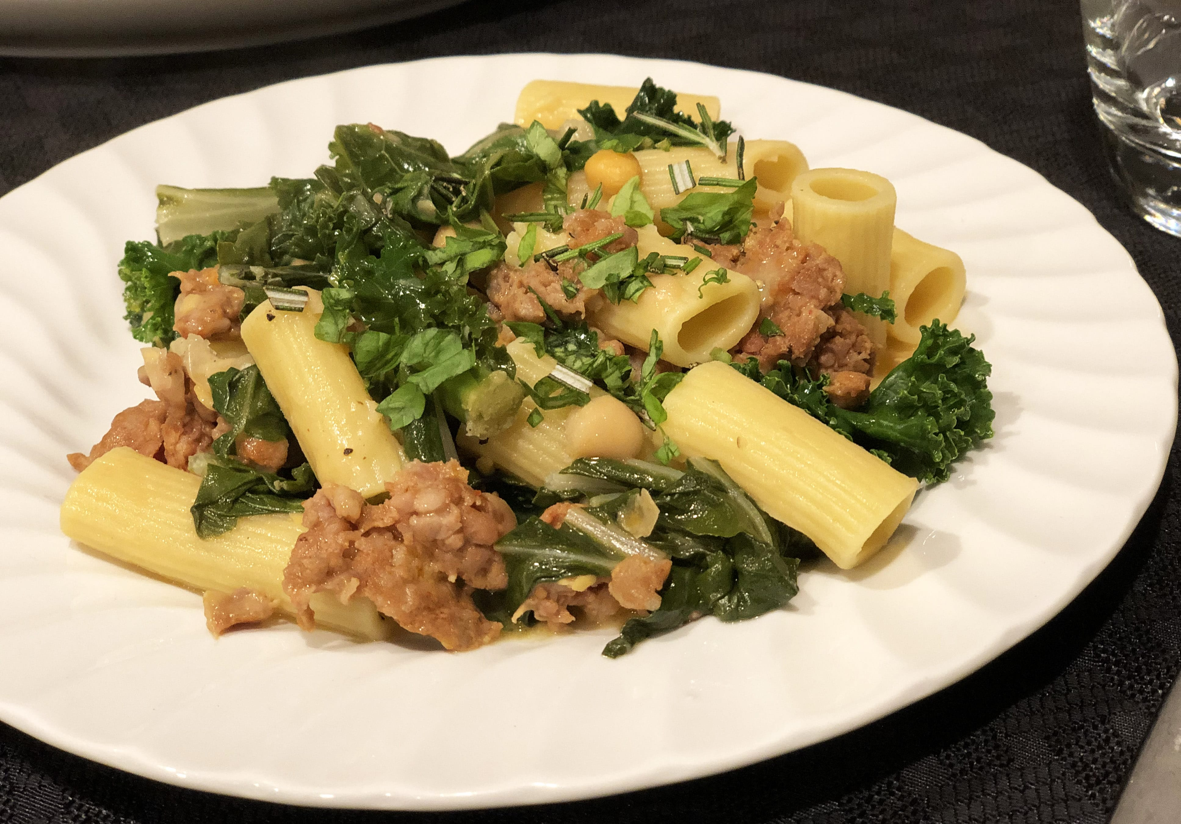 Sausage Greens and Beans Pasta