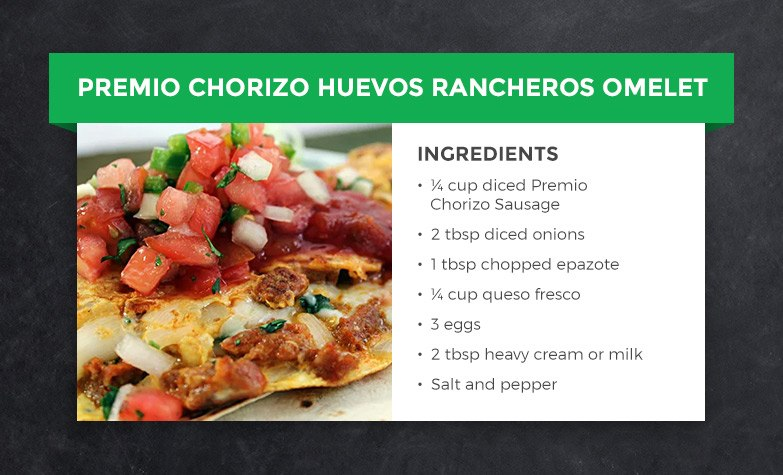 Premio Chorizo Huevos Rancheros Omelet