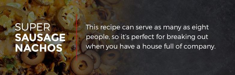 Super Sausage Nachos