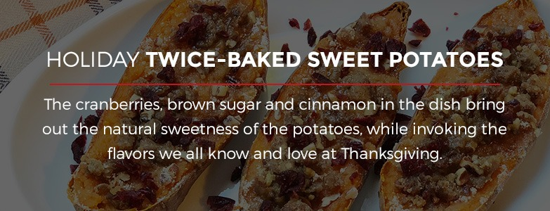 Holiday Twice-Baked Sweet Potatoes