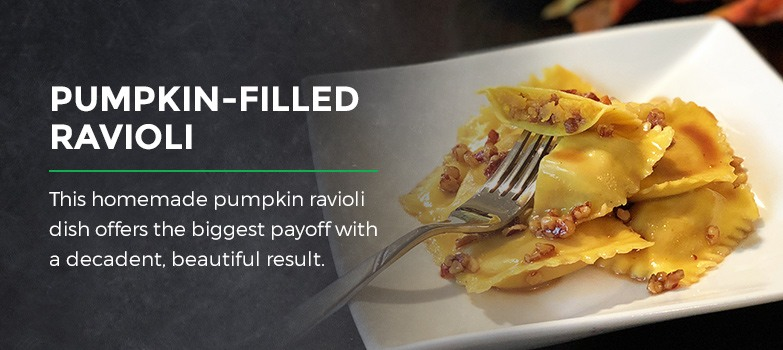 Pumpkin-filled Ravioli
