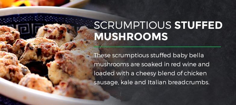 Scrumptious Stuffed Mushrooms