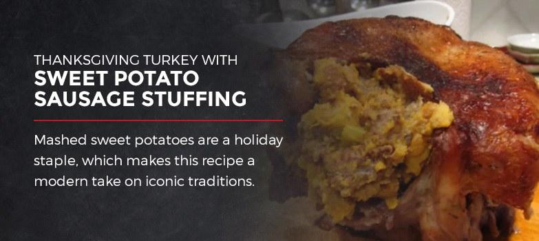 Thanksgiving Turkey with Sweet Potato Sausage Stuffing
