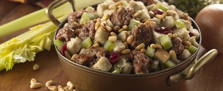 Sausage Stuffing With Cranberries and Celery