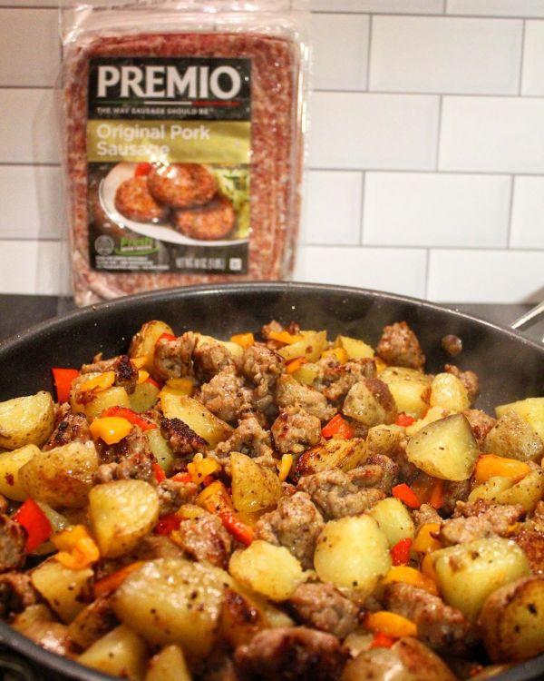 Sausage, Potato and Pepper Skillet