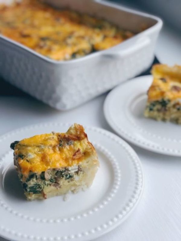 Savory Sausage & Hashbrown Quiche