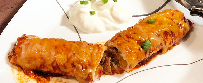 Enchilada with Sour Cream