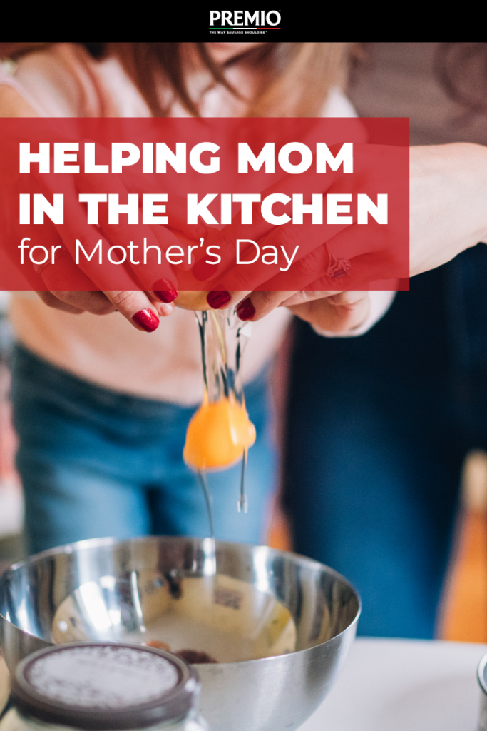 Helping Mom in the Kitchen for Mother's Day