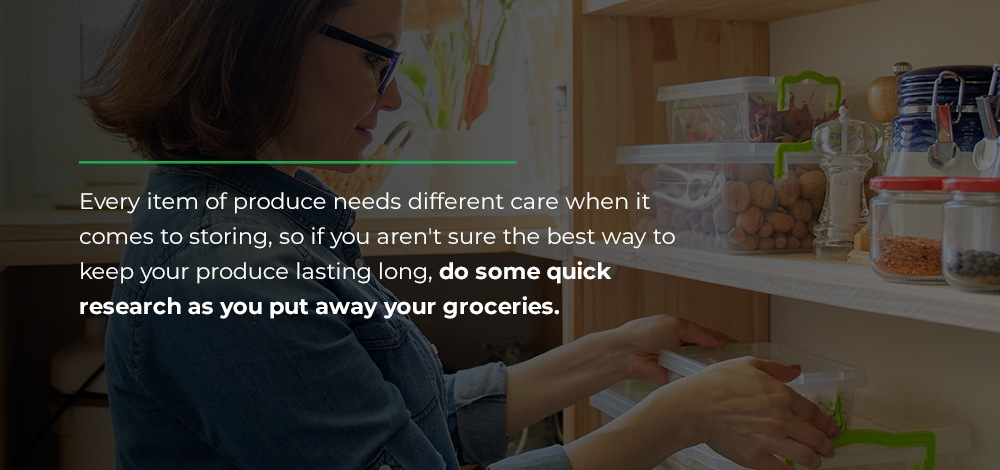 storing produce items