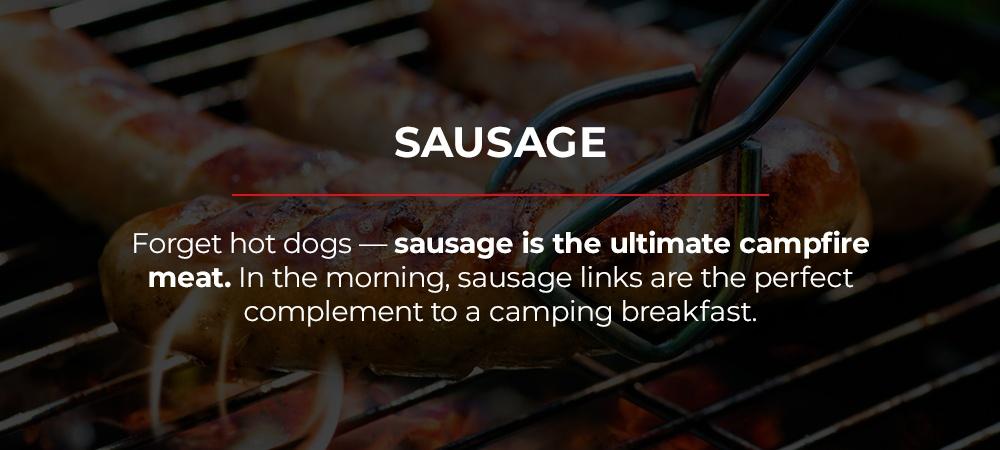 bring sausage camping