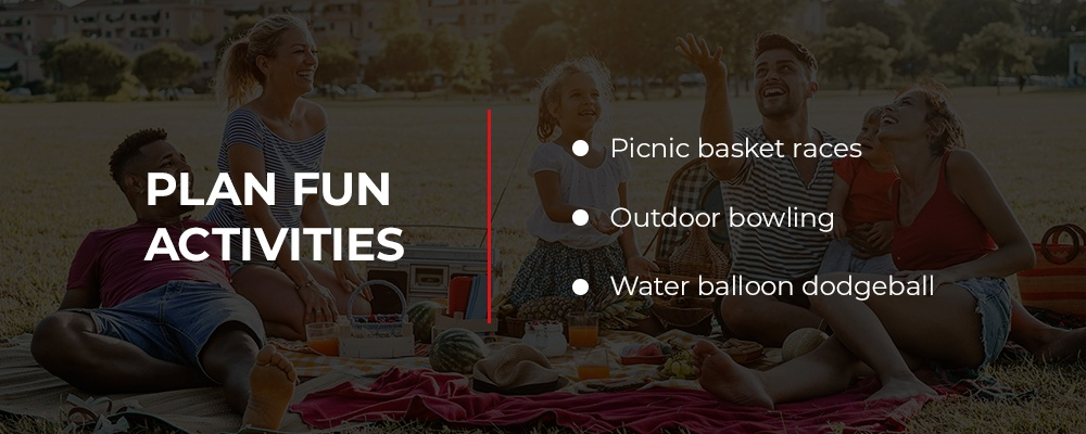 plan fun activities for your picnic