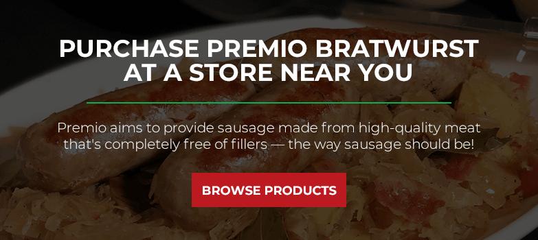 Purchase Premio Brats at a Store Near You