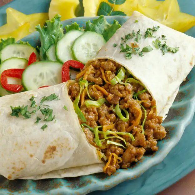 Thai Pork Burritos