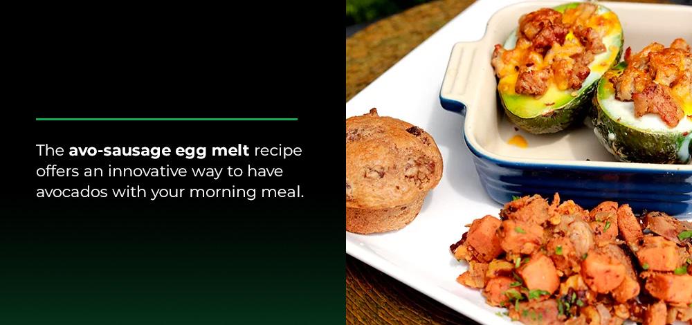 avo-sausage egg melt