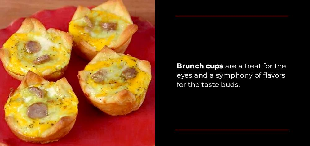 brunch cups with sausage and egg