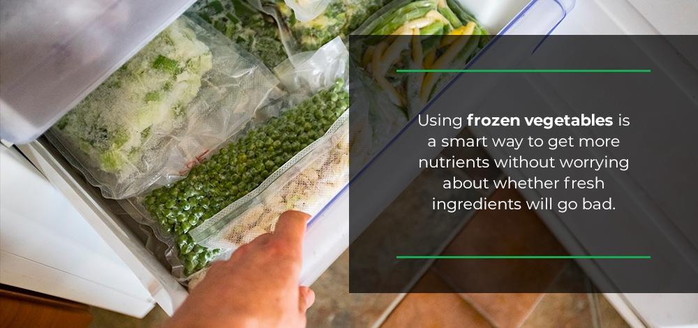 freeze vegetables