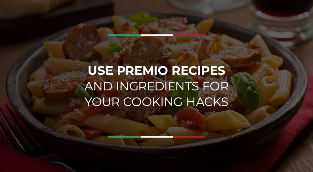 Use Premio Recipes and Ingredients