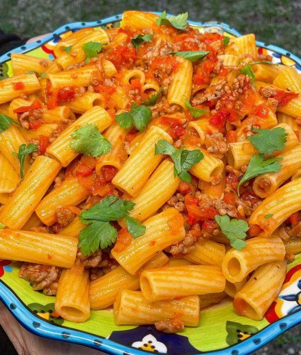 Sausage & Peppers Rigatoni